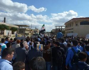 Gli studenti siriani contro il regime di Assad