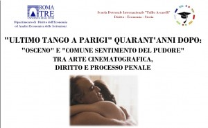 Locandina dibattito Ultimo Tango a Parigi
