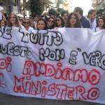 studenti in protesta