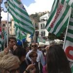 manifestanti cisl