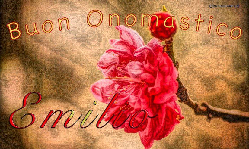 Immagini auguri buon onomastico per San Emilio 28 Maggio Santo del Giorno