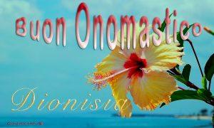 Immagini auguri buon onomastico per Santa Dionisia