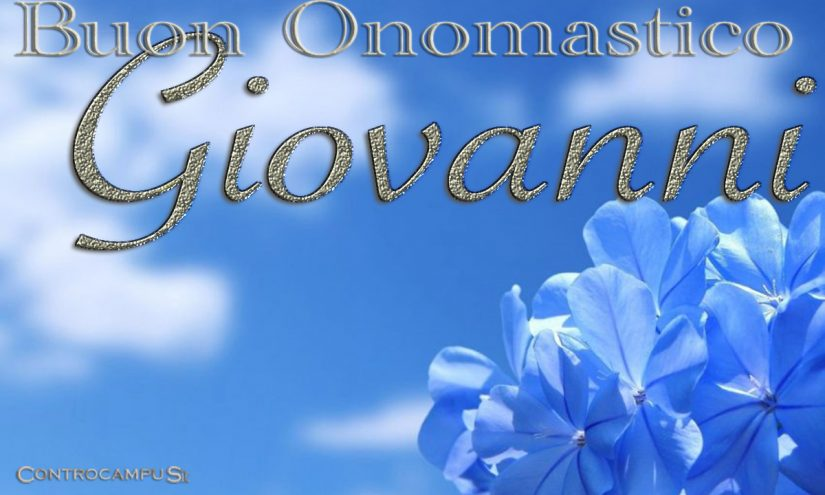 Immagini Auguri Buon onomastico Giovanni