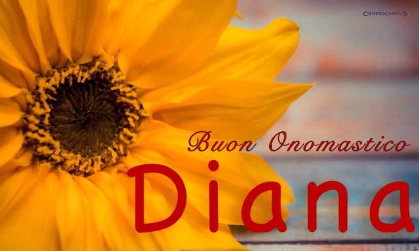 Immagini auguri buon onomastico per Santa Diana