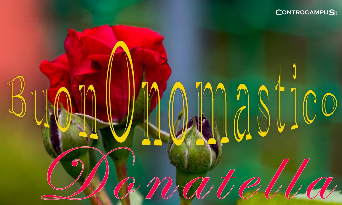 Immagini auguri buon onomastico per Santa Donatella e Donata