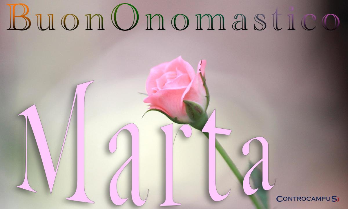 Immagini auguri buon onomastico per Santa Marta