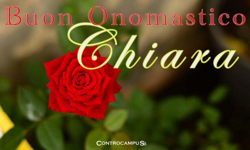 Immagini auguri buon onomastico per Santa Chiara