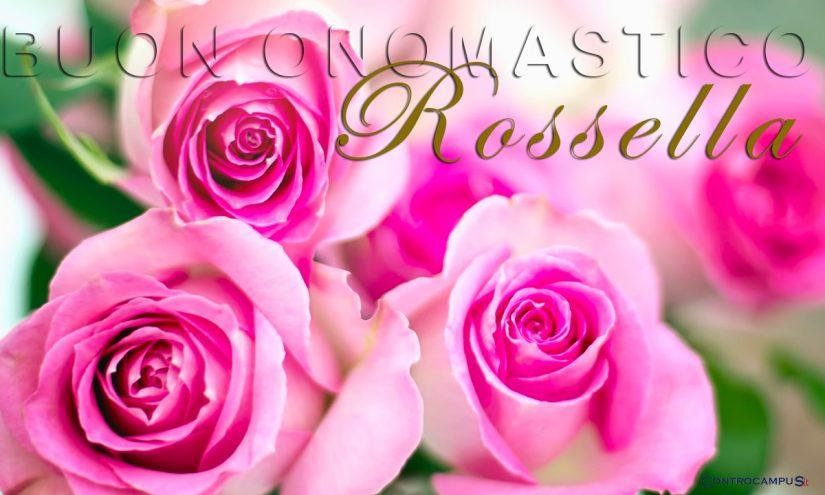 Immagini auguri buon onomastico per Santa Rosa