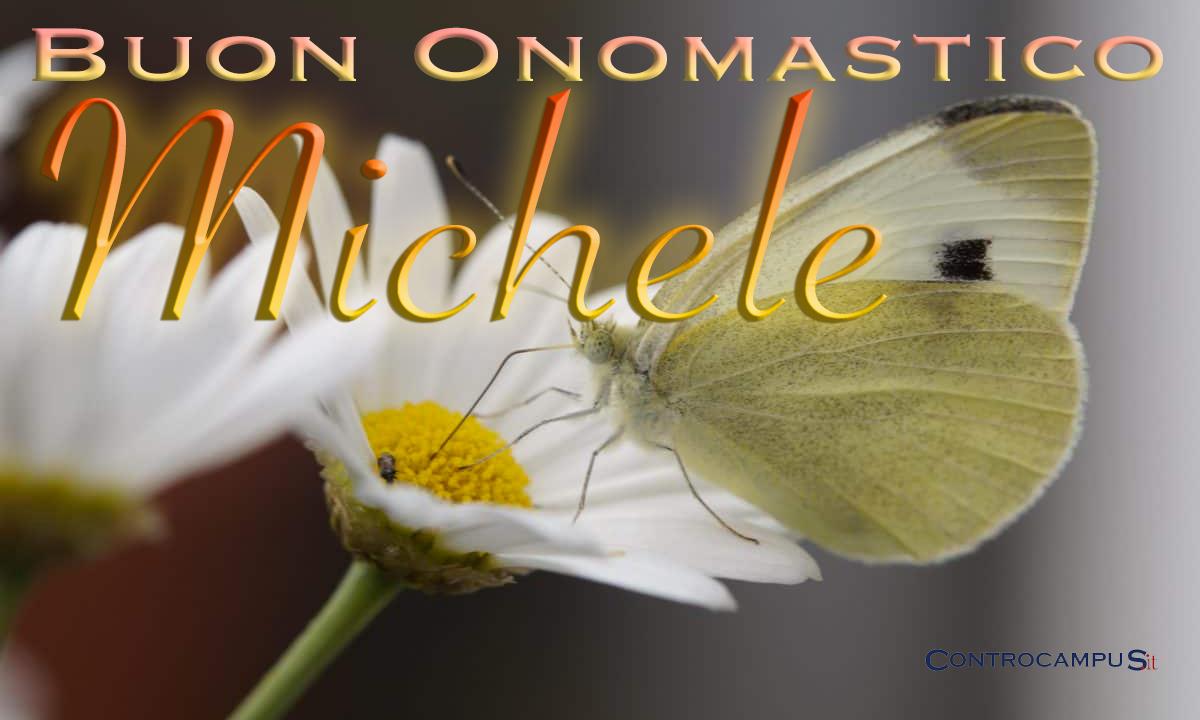Immagini belle di auguri buon onomastico Michele