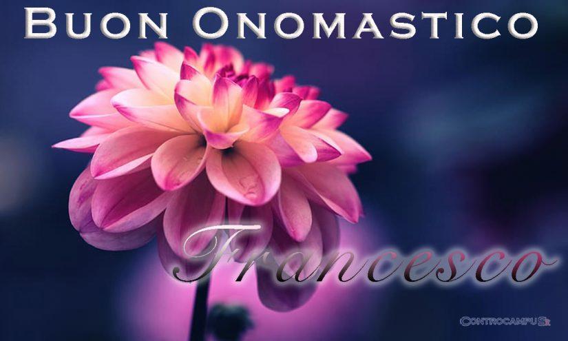 Immagini auguri buon onomastico per San Francesco