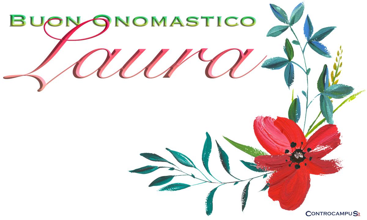 Immagini auguri buon onomastico per Santa Laura