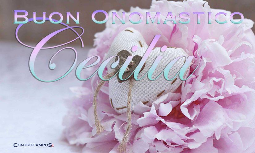 Immagini auguri buon onomastico per Santa Cecilia