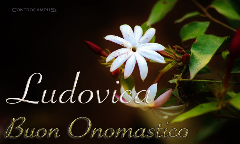 Immagini auguri buon onomastico per Santa Ludovica