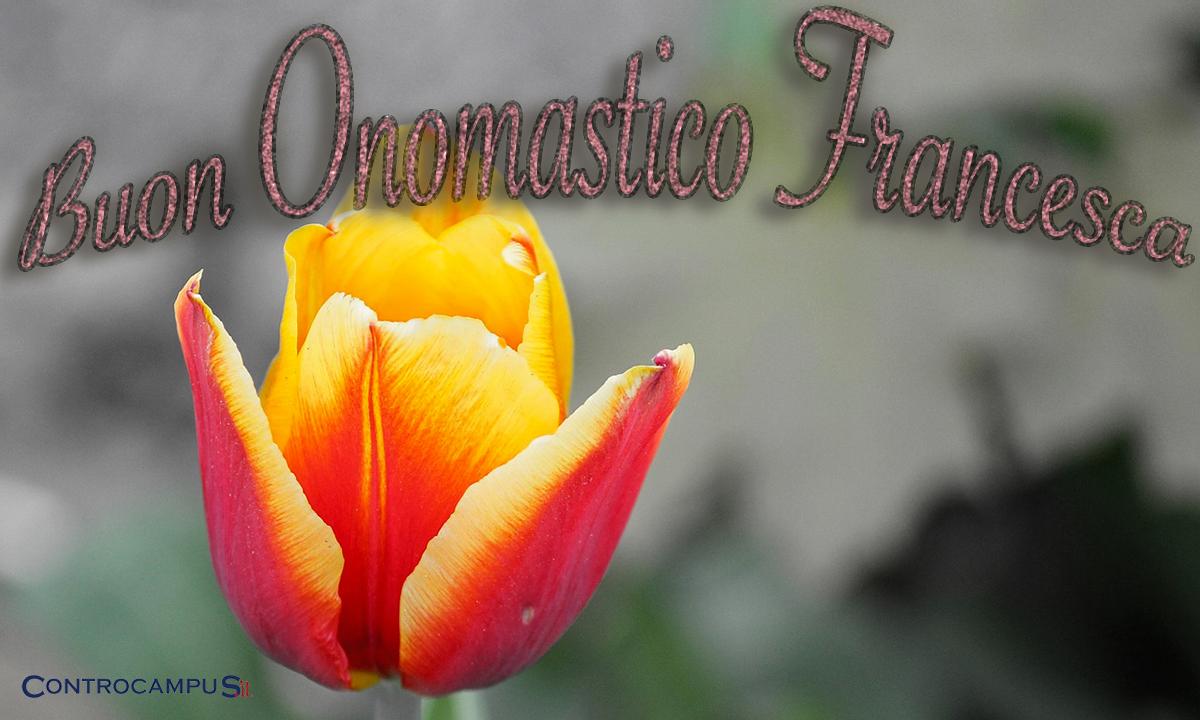 Immagini auguri buon onomastico Francesca
