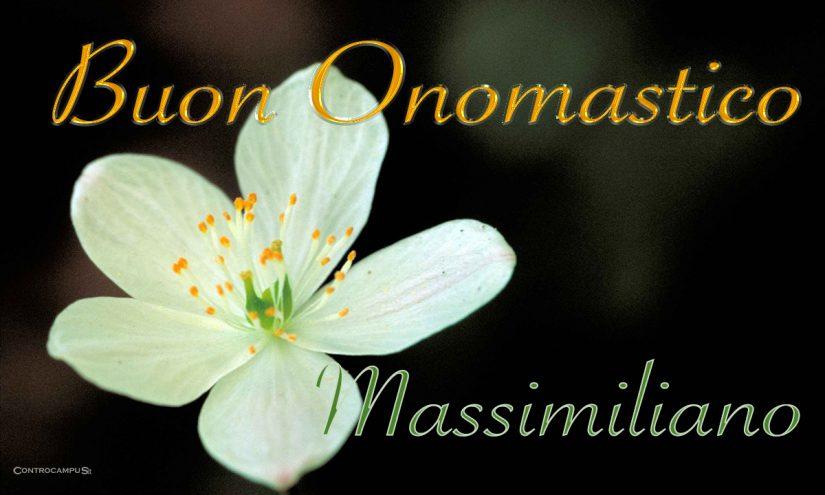 Immagini auguri buon onomastico Massimiliano