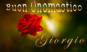 Immagini auguri buon onomastico per San Giorgio