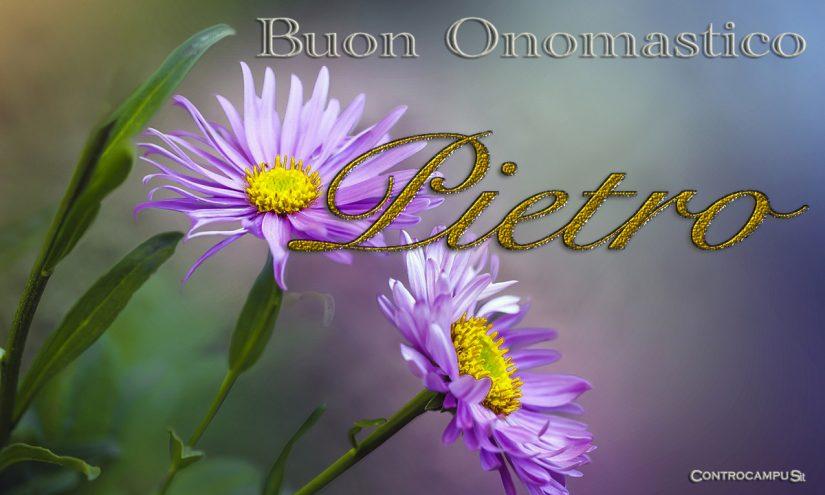 Immagini auguri Buon Onomastico Pietro