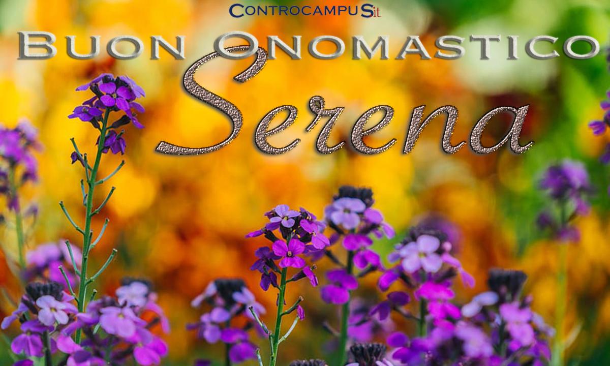 Immagini Auguri Buon Onomastico Serena