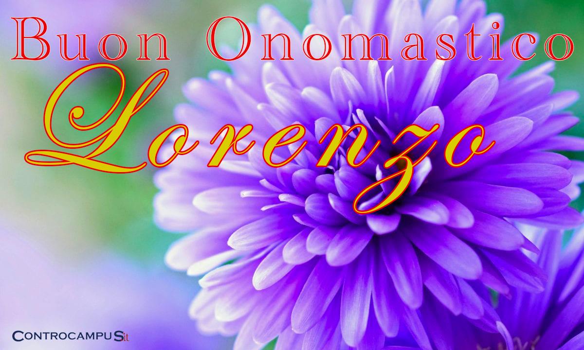 Immagini buon Onomastico Lorenzo
