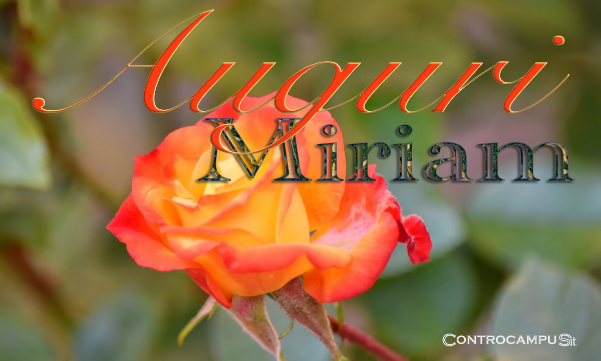Immagini Auguri Buon Onomastico Miriam