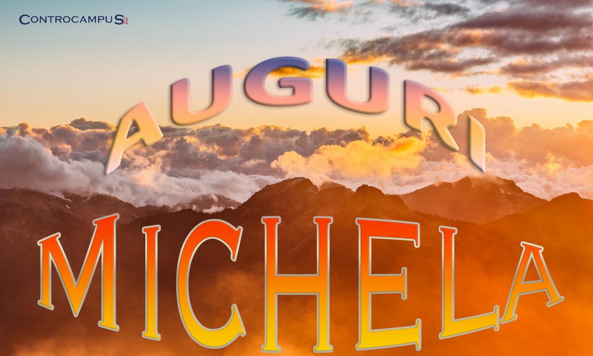 Immagini auguri onomastico Michela