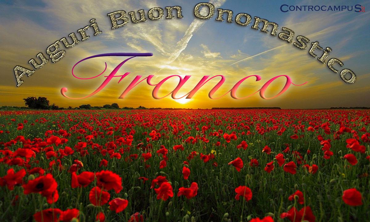 Immagini Auguri Buon Onomastico Franco