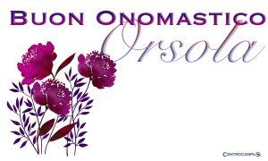 Immagini auguri buon onomastico per Sant Orsola