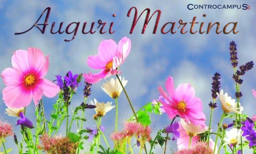 Immagini auguri onomastico Martina