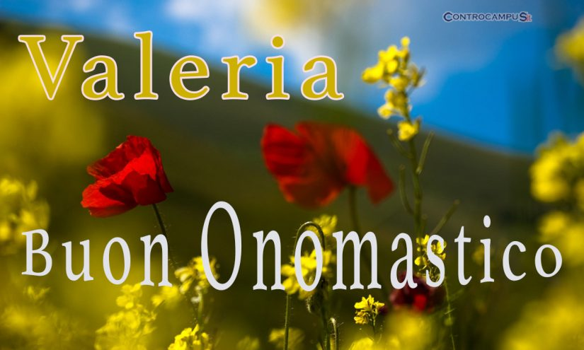 Immagini auguri buon onomastico Santa Valeria