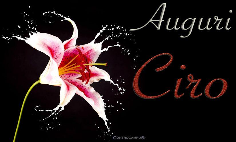 Immagini auguri buon onomastico Ciro
