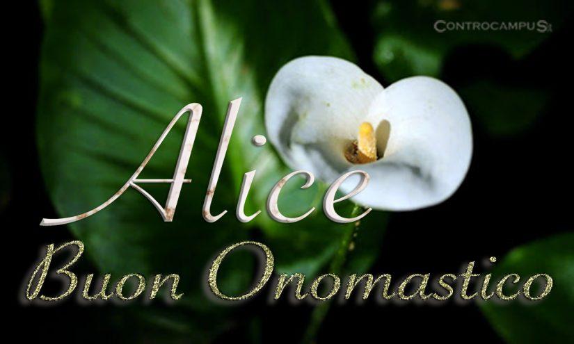 Immagini auguri buon onomastico per Sant Alice