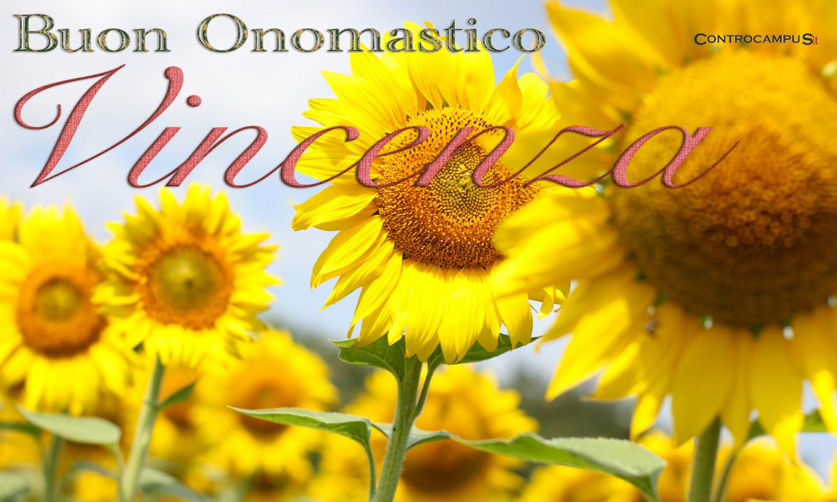 Immagini auguri buon onomastico Vincenza