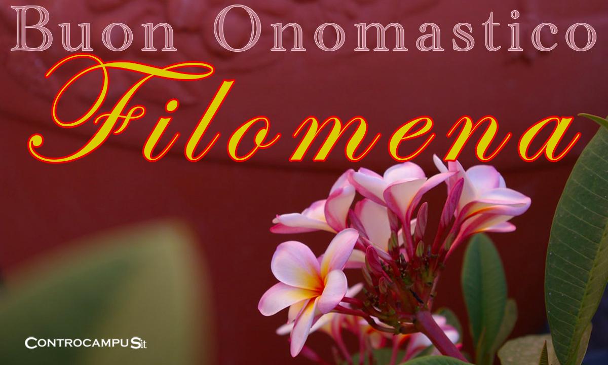 Immagini auguri buon onomastico per Santa Filomena