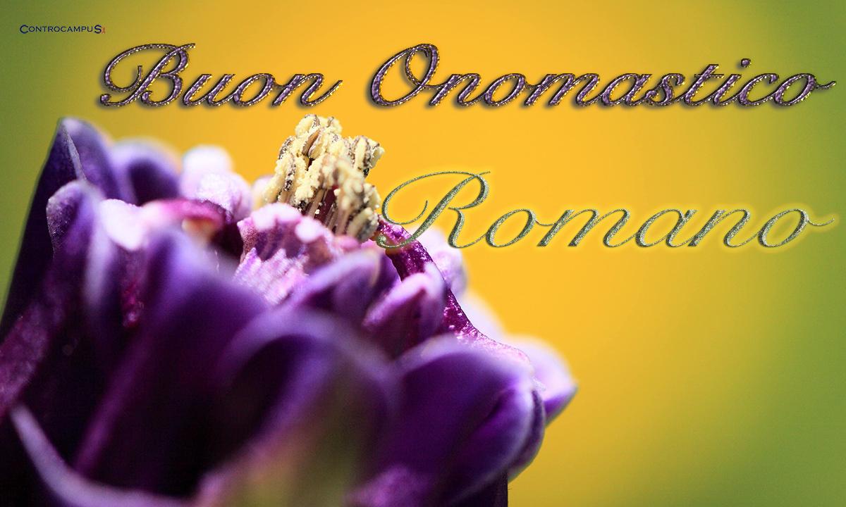 Immagini auguri buon onomastico per San Romano