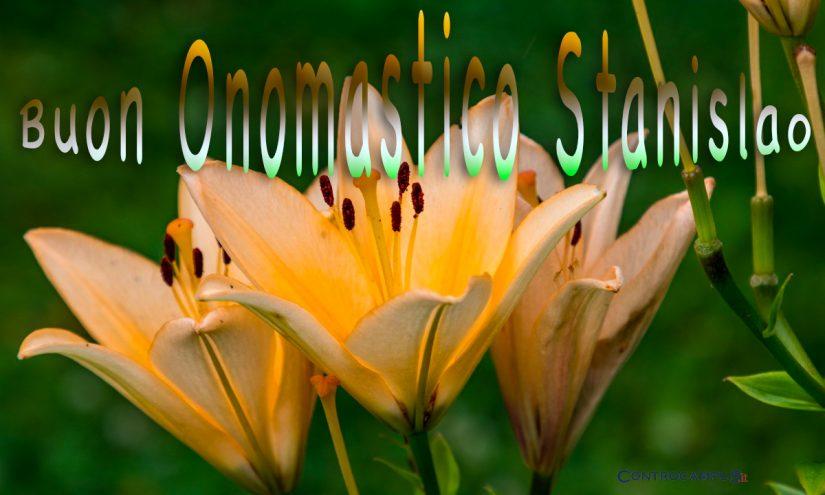 Immagini auguri buon onomastico per San Stanislao