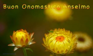 Immagini auguri buon onomastici Sant Anselmo
