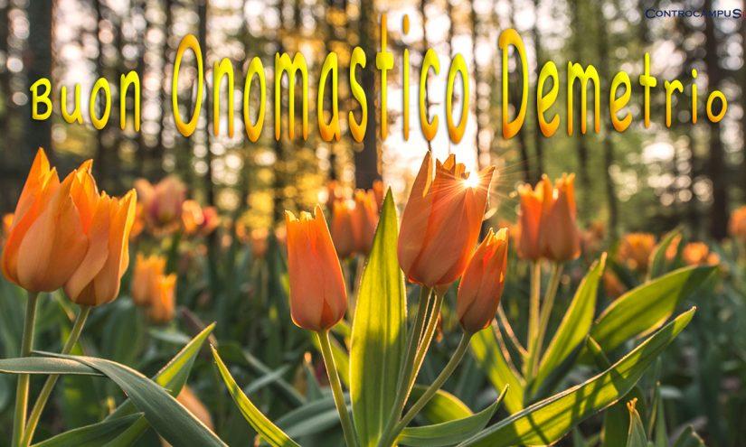 Immagini auguri buon onomastico per San Demetrio