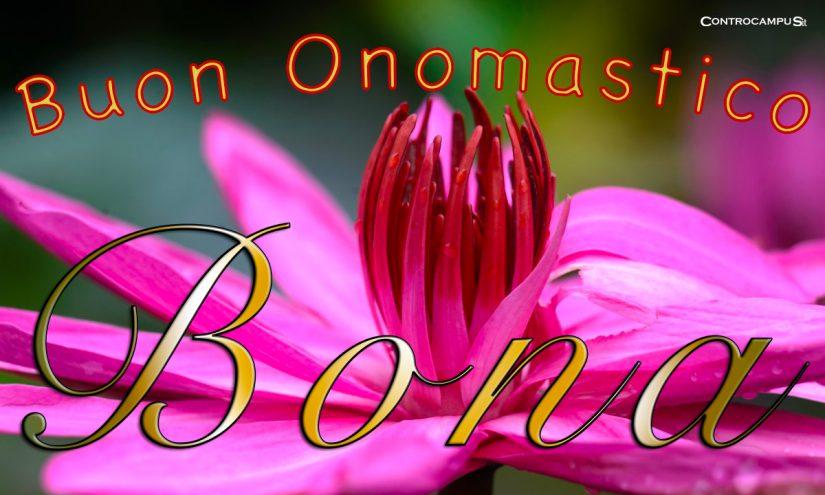 Immagini auguri buon onomastico per Santa Bona