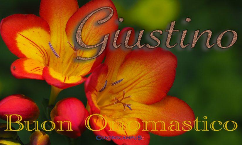 Immagini auguri buon onomastico per San Giustino