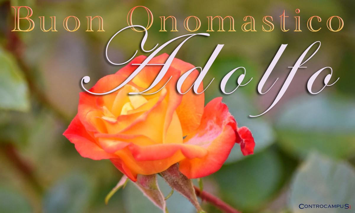 Immagini auguri buon onomastico per Sant Adolfo