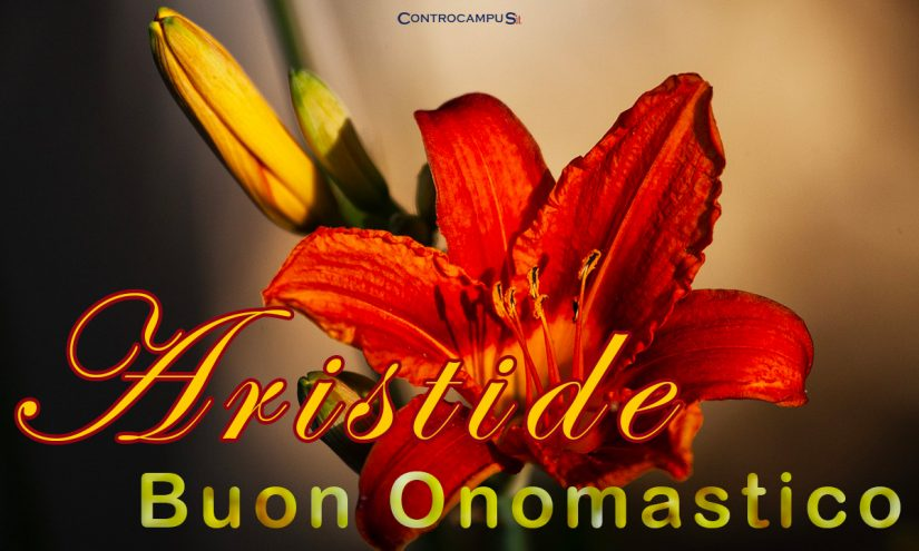 Immagini auguri onomastico Sant Aristide