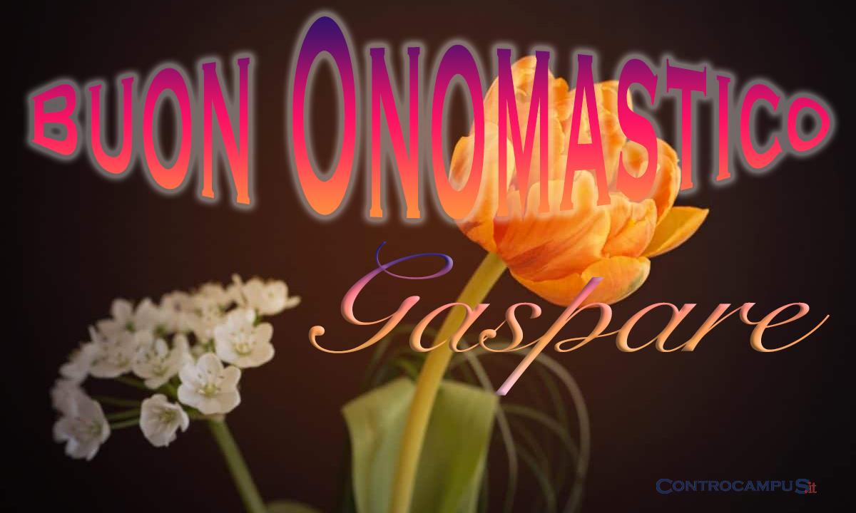 Immagini auguri buon onomastico per San Gaspare