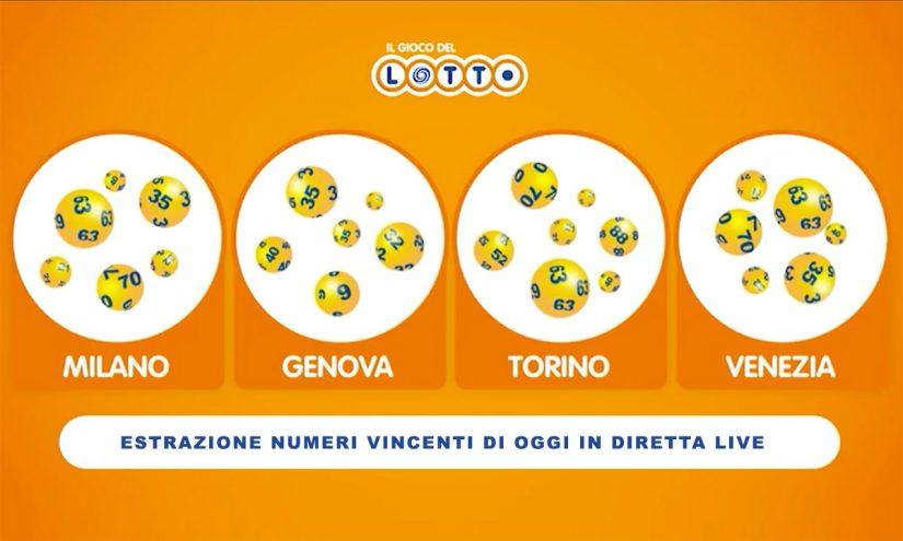 Estrazioni del Lotto del 22 aprile 2021