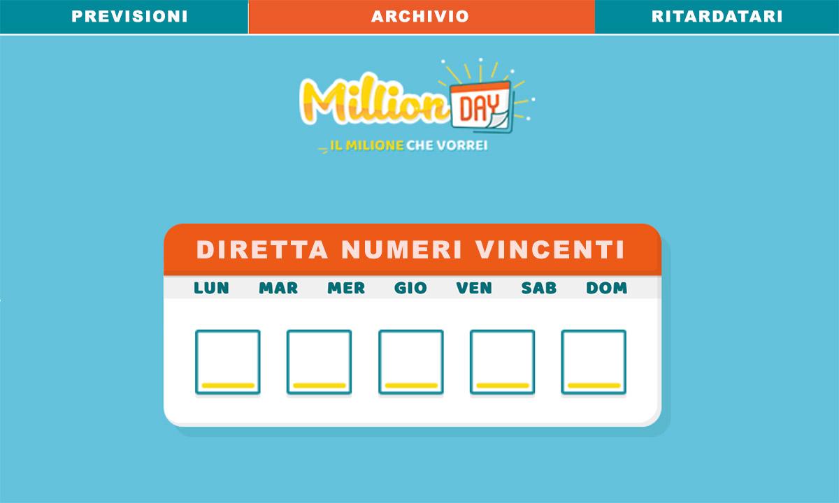 MillionDay di oggi 6 luglio 2020