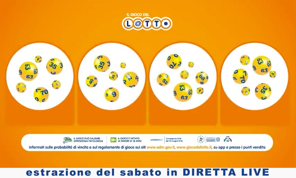 Estrazione del Lotto di oggi 17 luglio 2021