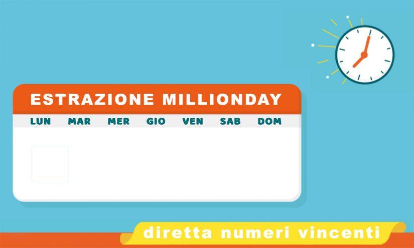 Estrazione MillionDAY oggi 7 settembre 2021