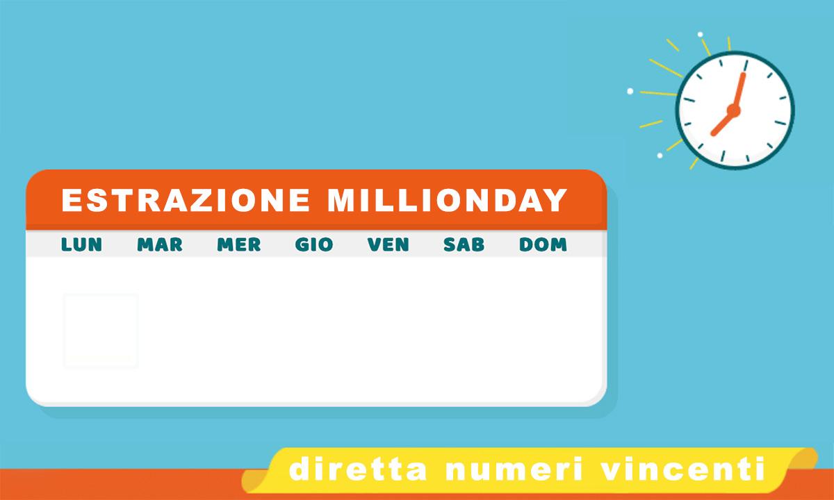 Estrazione MillionDAY oggi 29 novembre 2020