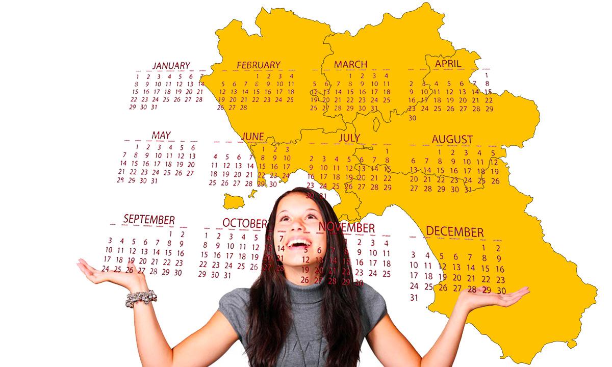 Calendario scolastico 2020 21 Campania in PDF: vacanze e festività