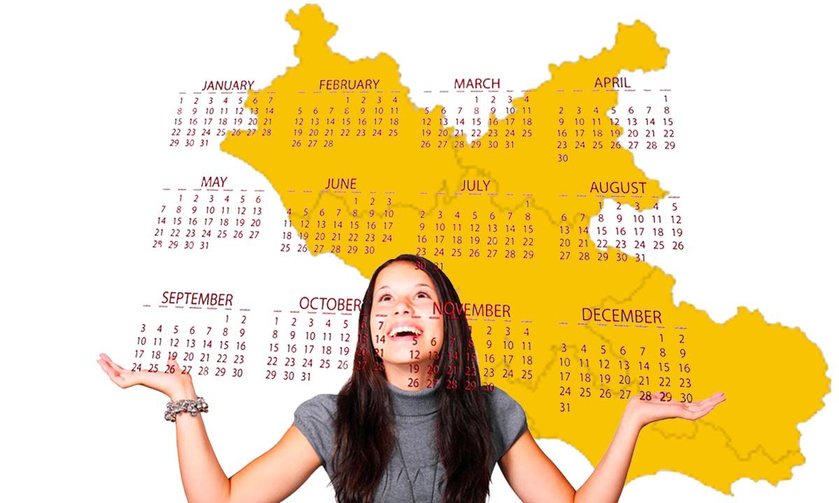 Calendario scolastico 2020 21 Lazio in PDF: vacanze e festività