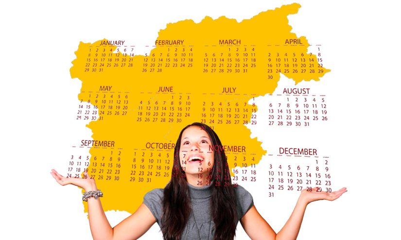 Calendario scolastico 2020-21 regione Trentino Alto Adige